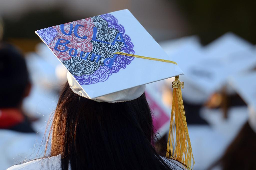 . Graduation ceremonies at San Fernando High School in Pacoima, CA Thursday, June 5, 2014. (Photo by Hans Gutknecht/Los Angeles Daily News)