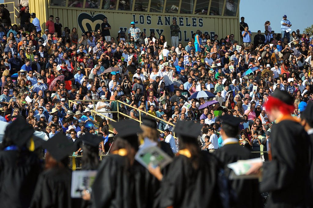 . A large crowd on hand for the Los Angeles Valley College graduation, Tuesday, June 10, 2014. (Photo by Michael Owen Baker/Los Angeles Daily News)
