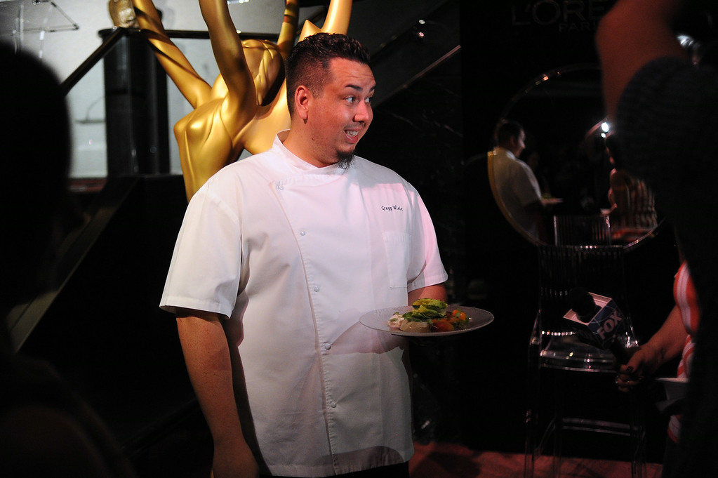 . Patina Catering�s Greg Wiele during the 66th Emmy Awards Governors Ball sneak peek press preview at Television Academy, Leonard H. Goldenson Theatre in North Hollywood Wednesday, July 23, 2014. (Hans Gutknecht/Los Angeles Daily News)