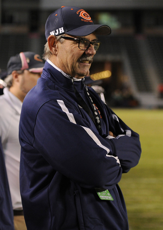 . Ed Croson watches the final moments tick away. Chaminade defeated Enterprise 41-9 to win the CIF Division II State Championship. Carson, CA 12-21-2013. photo by (John McCoy/Los Angeles Daily News)