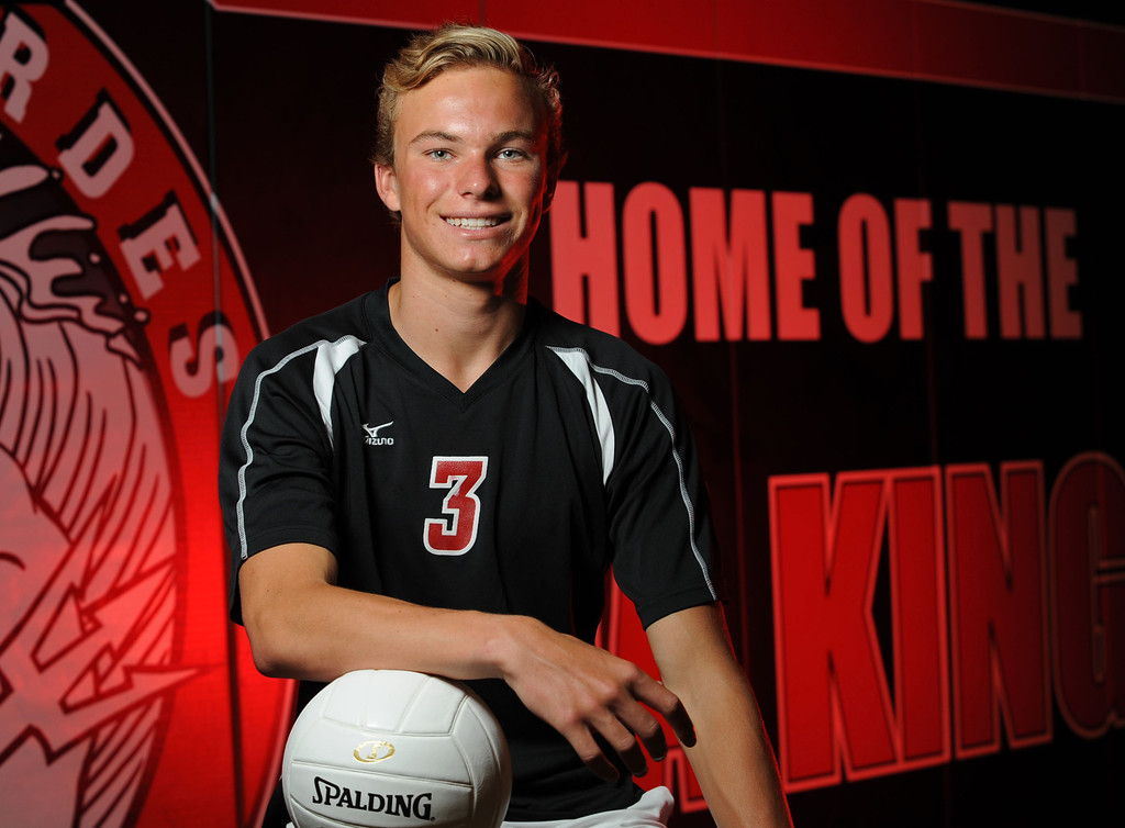 . Palos Verdes High setter Cole Fiers is the Daily Breeze Volleyball Player of the Year for 2013. 20130613 Photo by Steve McCrank / Staff Photographer