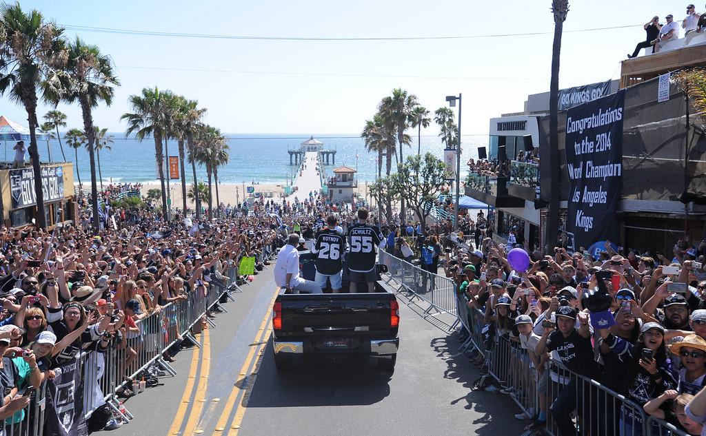 . At Manhattan Beach Pier. Kings parade through the cities of Redondo Beach, Hermosa Beach, and Manhattan Beach. (June 18, 2014. Photo by Brad Graverson/The Daily Breeze)