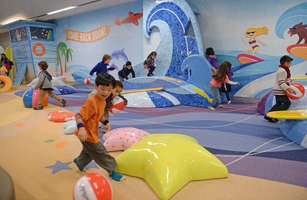 . At LAX, a new play space for kids age 2-8 opened inside the new Tom Bradley International Terminal.  (Dec 19, 2013. Photo by Brad Graverson/The Daily Breeze)