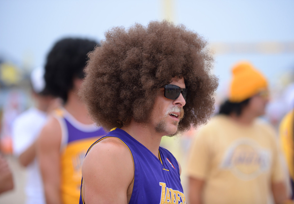 . Team Fletch. Manhattan Beach Charlie Saikley 6-man beach volleyball tournament.   Photo by Brad Graverson 7-31-13