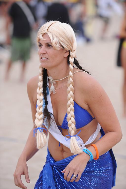 . Super Swedes. Manhattan Beach Charlie Saikley 6-man beach volleyball tournament.   Photo by Brad Graverson 7-31-13