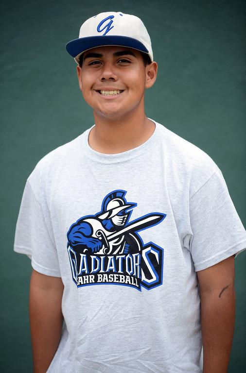 . Long Beach, Calif., -- 06-12-13- All Area Baseball - Andrew Encinas of Gahr.    Stephen Carr/  Los Angeles Newspaper Group