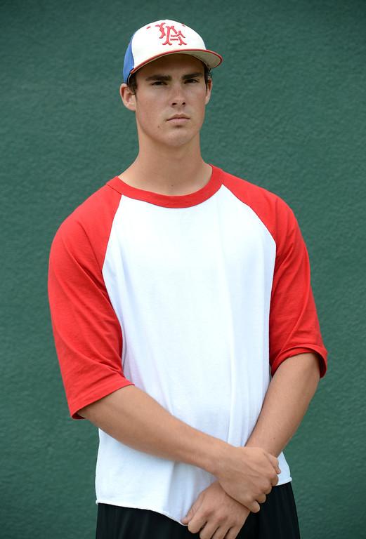 . Long Beach, Calif., -- 06-12-13- All Area Baseball -Jacob Nix of Los Alamitos.    Stephen Carr/  Los Angeles Newspaper Group