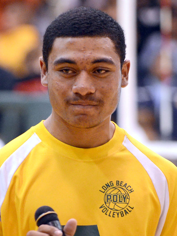 . Long Beach Calif., -- 06-20-13- Long Beach Poly Volleyball player Charles Aoga.    Stephen Carr/  Los Angeles Newspaper Group