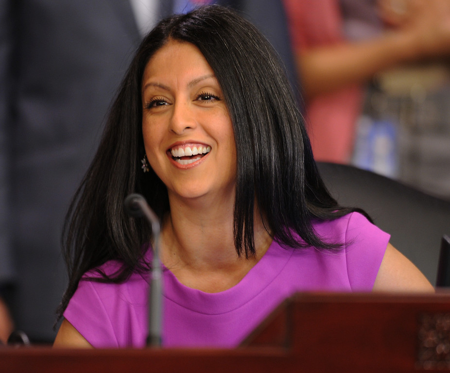 . Nury Martinez is the newest Los Angeles City Council member, representing District 6. The council met in Van Nuys City Hall. Van Nuys , CA. 8/2/2013(John McCoy/LA Daily News)