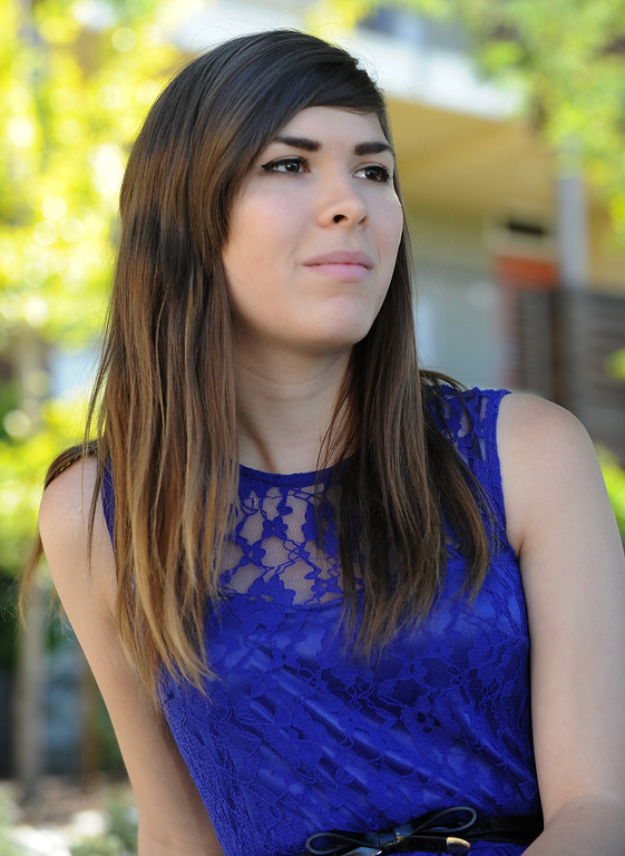 . Eli Erlick is an 18-year old transgender student attending Pitzer College. She is active in fighting for the rights of people who are in a similar circumstance. Claremont, CA. 10/31/2013. photo by (John McCoy/Los Angeles Daily News)
