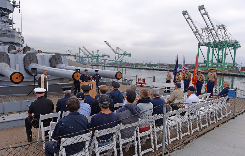 . Observance event to honor 9/11 first responders aboard the USS Iowa in San Pedro. (Wed. Sept 11, 2013 Photo by Brad Graverson/The Daily Breeze