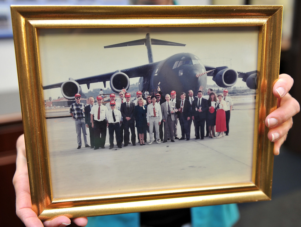. 8/23/13 - Boeing prepares to deliver the last domestic C-17 on Sept. 12 to Charleston, S.C., home of the first C-17. This is a photo of the first C17 on delivery day, September 15, 1991. Photo by Brittany Murray, Press Telegram
