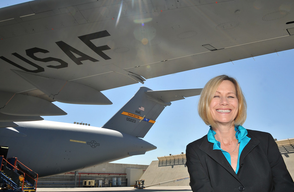 . 8/23/13 - Nan Bouchard, vice president & C17 program manager for Boeing.  Photo by Brittany Murray, Press Telegram