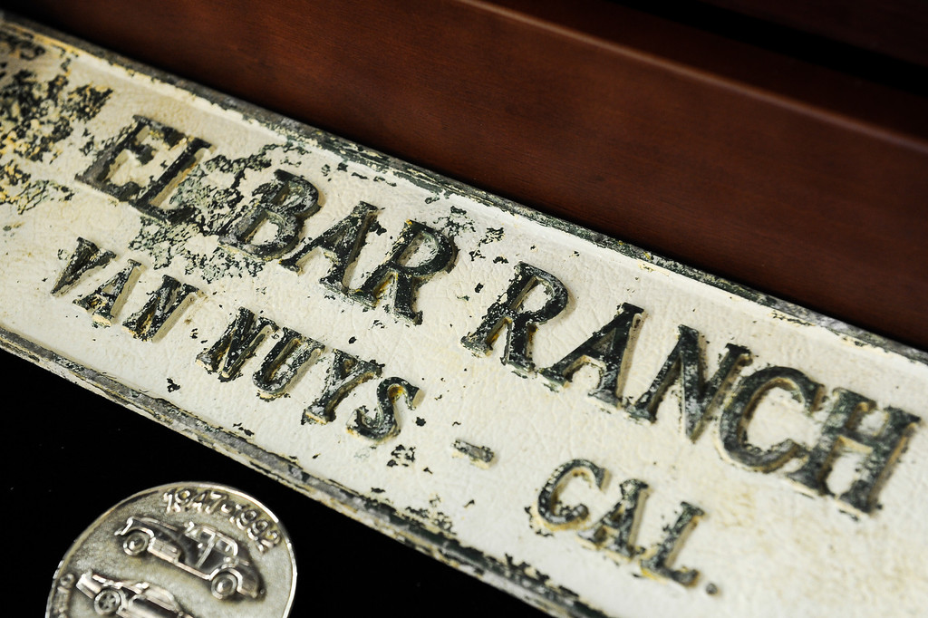 . An undated sign from El Bar Ranch in Van Nuys at Valley Relics Museum. (Photo by Michael Owen Baker/L.A. Daily News)