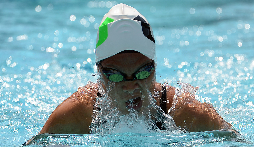 . Upland\'s Sonia Wang wins the 200 yard freestyle during the Division 2 CIF Southern Section Swimming Championships in the Riverside Aquatics Complex at Riverside City College in Riverside, Calif., on Saturday, May 17, 2014.