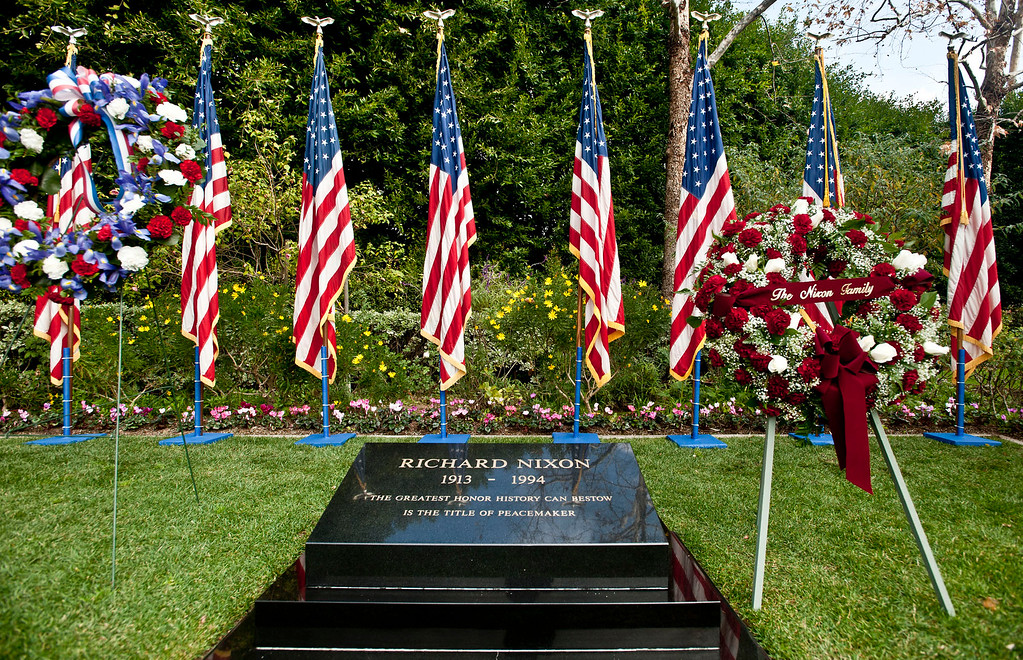 . President Richard Nixon\'s Presidential Wreath Laying Ceremony for his 98th birthday anniversary at the Memorials of President and Mrs. Nixon burial site at Richard Nixon Library and Birthplace in Yorba Linda on Sunday, Jan. 9, 2011. (SGVN/Staff photo by Watchara Phomicinda/SWCity)