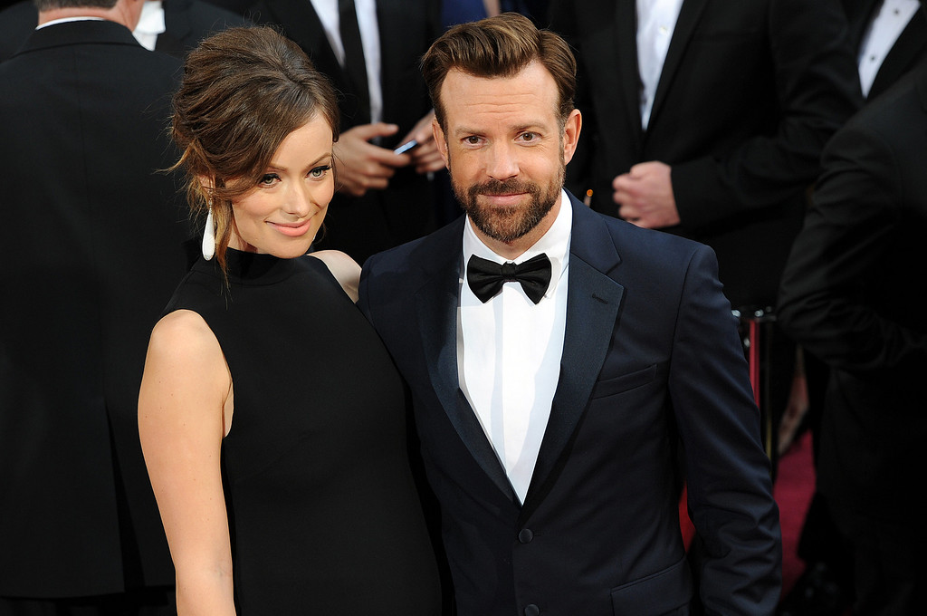 . Olivia Wilde and Jason Sudeikis attend the 86th Academy Awards at the Dolby Theatre in Hollywood, California on Sunday March 2, 2014 (Photo by John McCoy / Los Angeles Daily News)