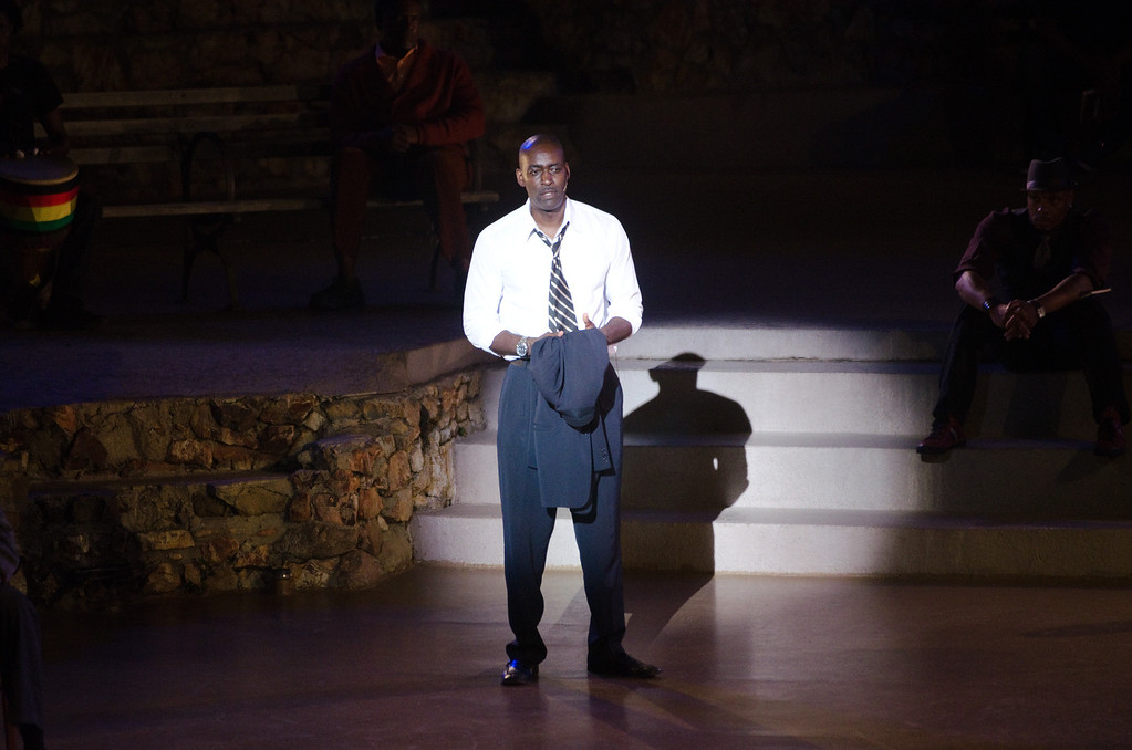 . Michael Jace performs at WordTheatre presents Storytales at Ford Amphitheatre on Saturday, Oct, 6, 2012, in Los Angeles, California. (Photo by Richard Shotwell/Invision/AP)