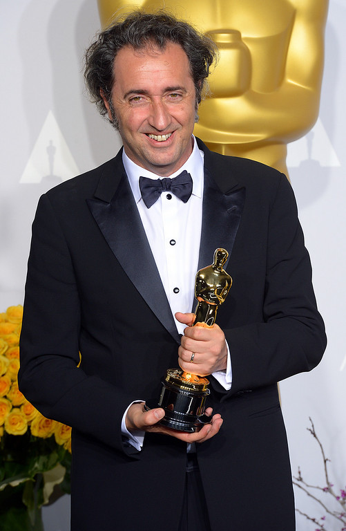 . Director Paolo Sorrentino,  accept the Best Foreign Language Film award for \'The Great Beauty\' backstage at the 86th Academy Awards at the Dolby Theatre in Hollywood, California on Sunday March 2, 2014 (Photo by David Crane / Los Angeles Daily News)