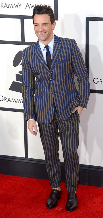. George Kotsiopoulos arrives at the 56th Annual GRAMMY Awards at Staples Center in Los Angeles, California on Sunday January 26, 2014 (Photo by David Crane / Los Angeles Daily News)