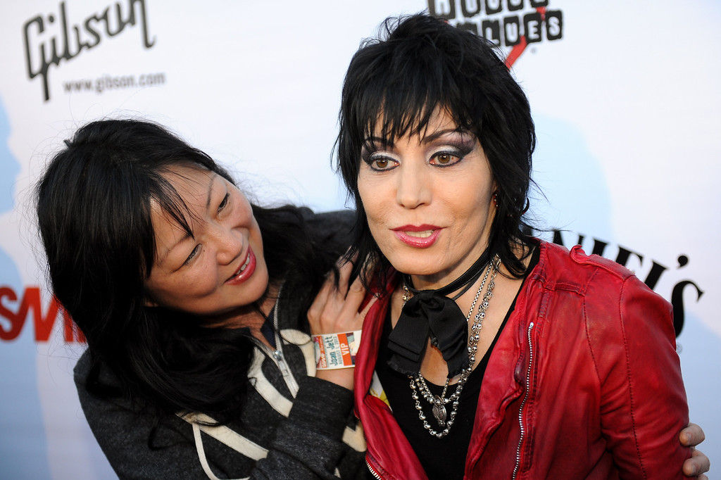 . Joan Jett with comedian Margaret Cho at the House of Blues as part of the Sunset Strip Music Festival, Thursday, August 1, 2013. (Michael Owen Baker/L.A. Daily News)