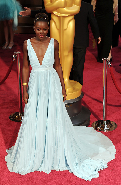 . Lupita Nyong\'o attends the 86th Academy Awards at the Dolby Theatre in Hollywood, California on Sunday March 2, 2014 (Photo by John McCoy / Los Angeles Daily News)