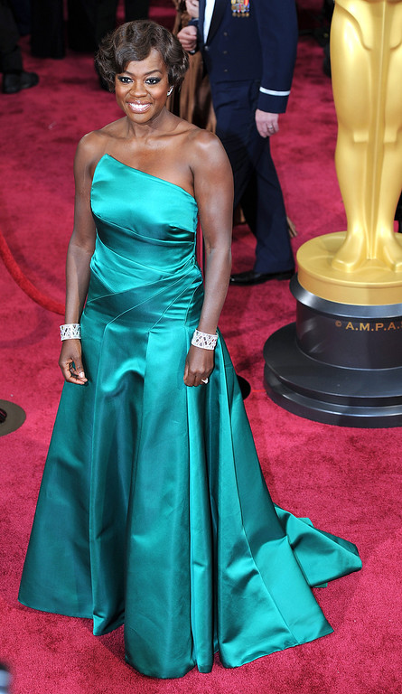 . Viola Davis attends the 86th Academy Awards at the Dolby Theatre in Hollywood, California on Sunday March 2, 2014 (Photo by John McCoy / Los Angeles Daily News)