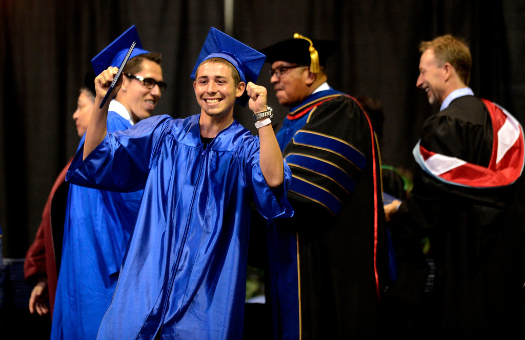 . Students enjoy the Rialto High School Commencement Exercises held at Citizens Bank Arena in Ontario June 2, 2013.  GABRIEL LUIS ACOSTA/STAFF PHOTOGRAPHER.