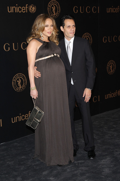 . NEW YORK - FEBRUARY 06:  Singer Marc Anthony and singer/actress Jennifer Lopez attend a reception to benefit UNICEF hosted by Gucci during Mercedes-Benz Fashion Week Fall 2008 at The Salon at Bryant Park on February 6, 2008 in New York City.  (Photo by Stephen Lovekin/Getty Images for IMG)