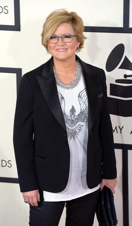 . Connie Harrington arrives at the 56th Annual GRAMMY Awards at Staples Center in Los Angeles, California on Sunday January 26, 2014 (Photo by David Crane / Los Angeles Daily News)