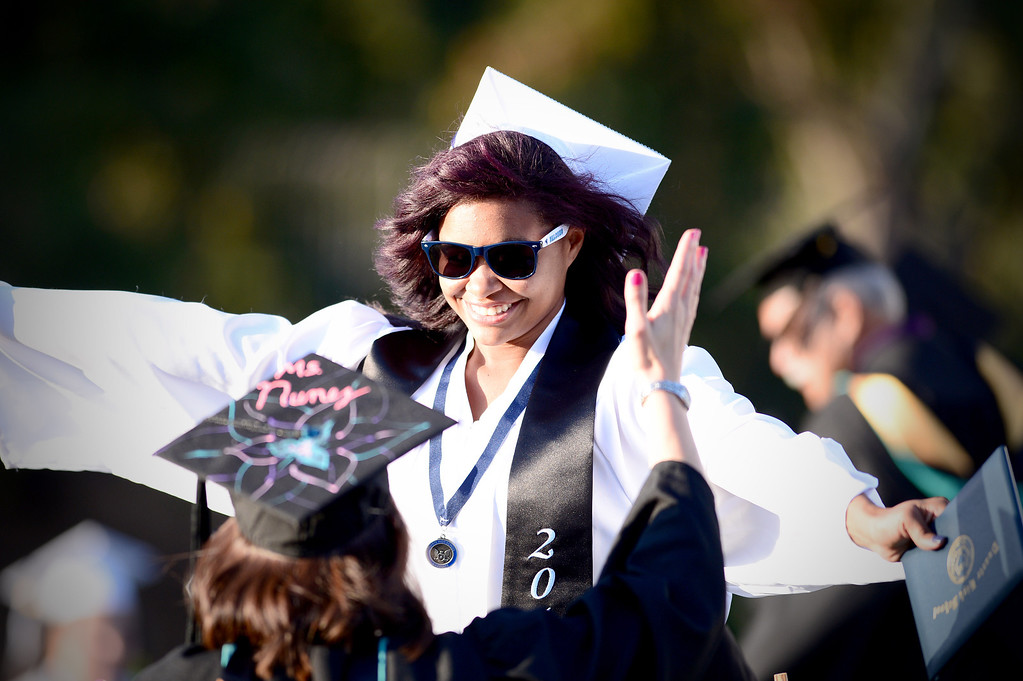 . Duarte High School holds their commencement ceremony Thursday night,  June 12, 2014 at the school. (Photo by Sarah Reingewirtz/Pasadena Star-News)