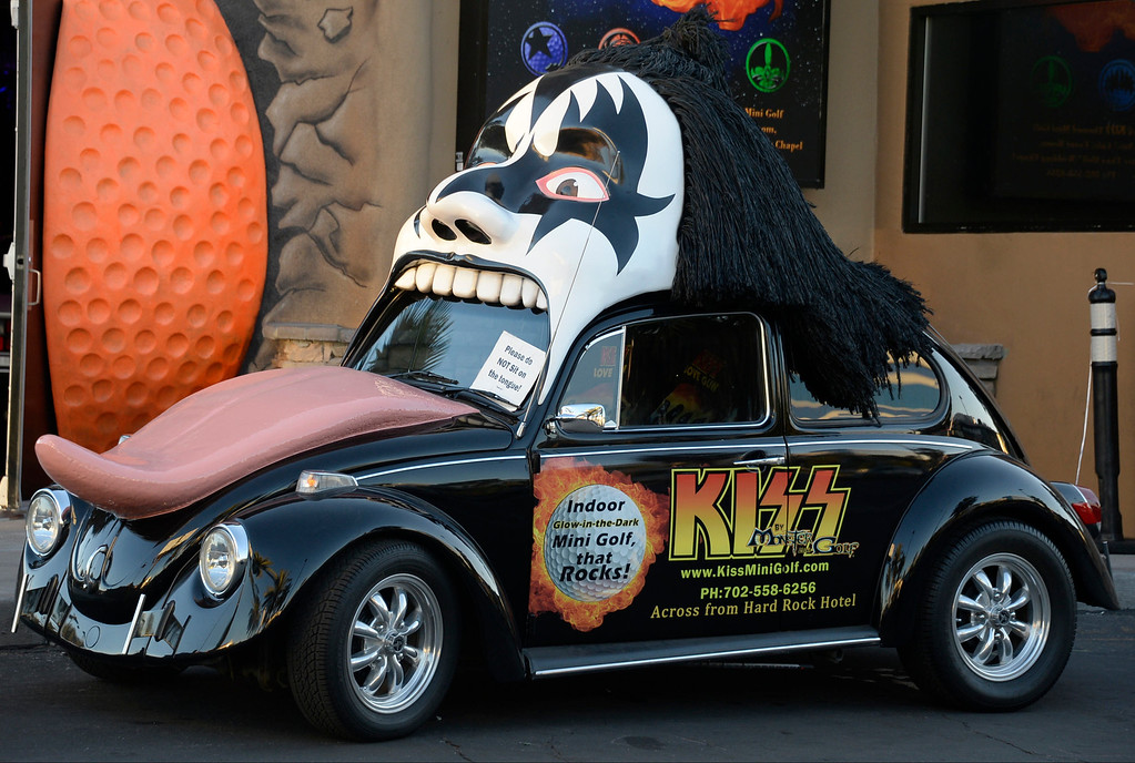 . Nov 5,2013 Las Vegas NV. USA. The wild KISS VW on display during the first day of the 2013 SEMA auto show.