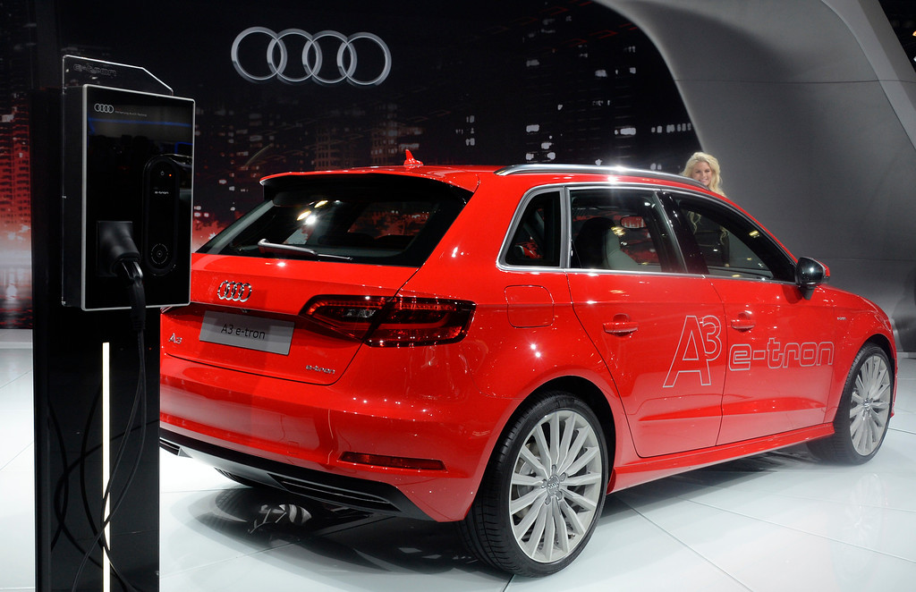 . Nov 22,2013 Los Angeles CA. The Audi A3 e-tron electric car on displays during the 2nd media day at the Los Angeles Auto Show. Photo by Gene Blevins/LA Daily News
