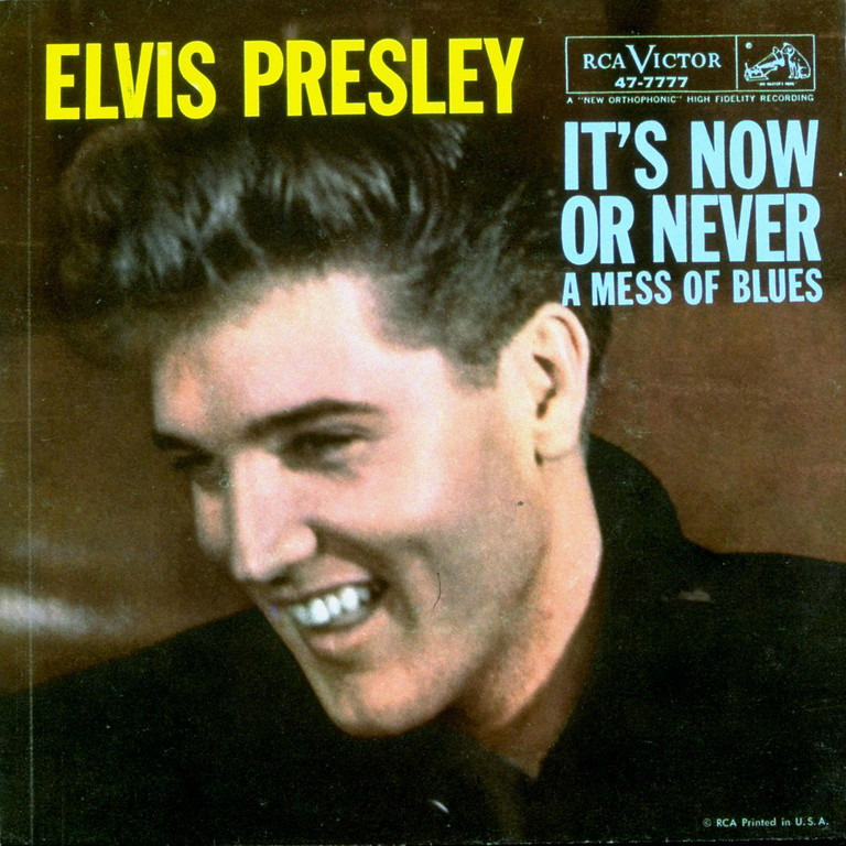 ". Elvis Presley\'s ""It\'s Now or Never\"", adapted from the Italian song  \""O Sole Mio\"" of 1899, was Billboard pop No. 1, July 25, 1960, and sold nine million copies. (AP Photo)"