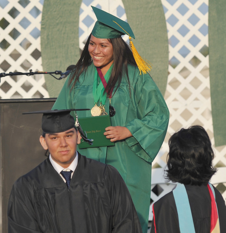 . Graduates get their diplomas during the 53rd Annual Commencement at Pioneer High School in Whittier on Wednesday June 12, 2013. (SGVN/Staff Photo by Keith Durflinger)