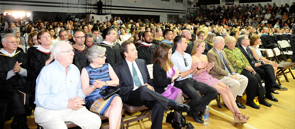 . Standing room only during the Crespi High class of 2013 graduation. May 24.2013.  Photos by Gene Blevins/LA DailyNews