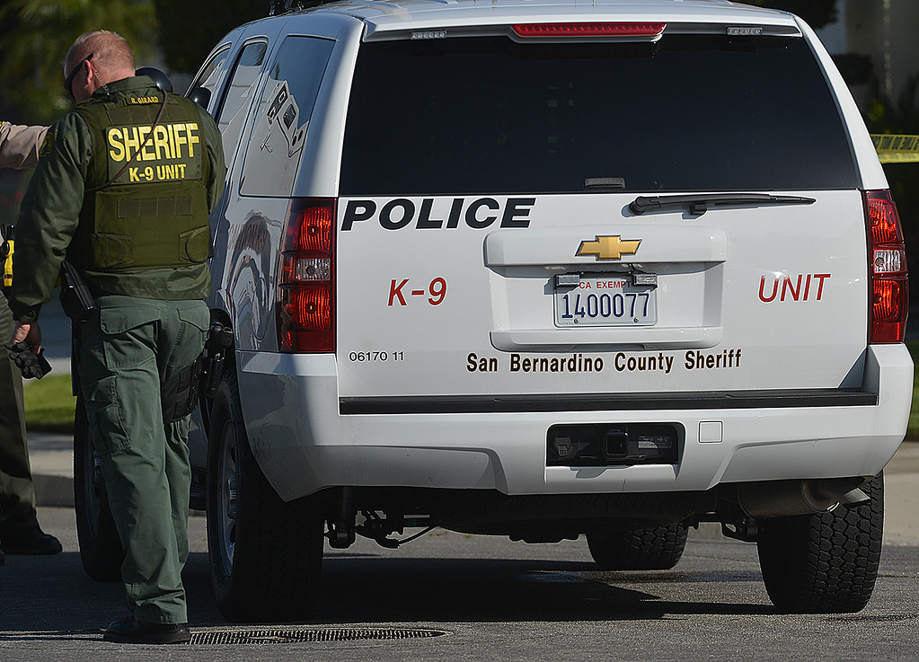 . San Bernardino County Sheriff�s Department are investigating the scene on a deputy involved shooting that happened early Friday morning along Brushwood Court in Chino Hills. (Photo by Rick Sforza/Inland Valley Daily Bulletin)