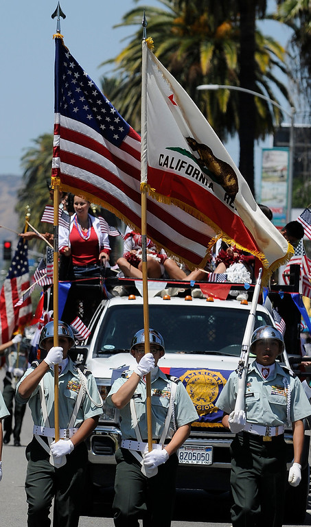. The Annual Canoga Park Memorial Day Parade marched down Sherman Way from Owensmouth east to Mason Street where it concluded at the First Baptist Church. Canoga park, CA 5/27/2013(John McCoy/LA Daily News)