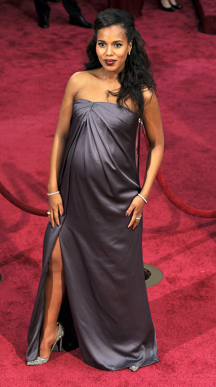 . Kerry Washington attends the 86th Academy Awards at the Dolby Theatre in Hollywood, California on Sunday March 2, 2014 (Photo by John McCoy / Los Angeles Daily News)