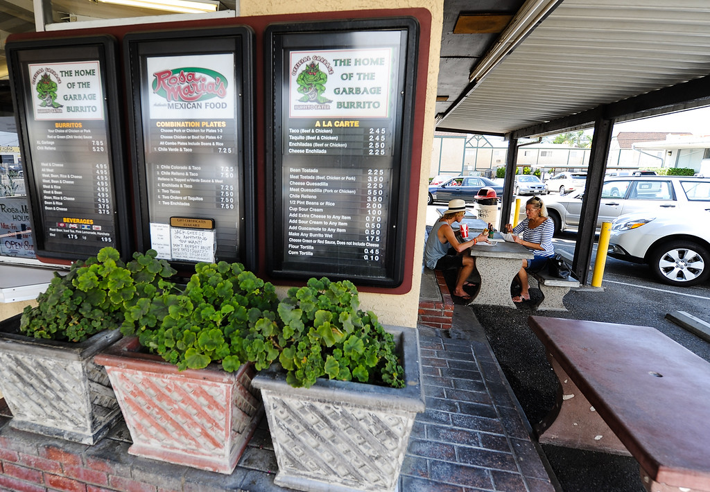 . Customers enjoy Mexican food at Rosa Maria\'s in San Bernardino Wednesday, Sept. 4, 2013. Locals consider Rosa Maria\'s a San Bernardino food hotspot in town. (Photo by Rachel Luna / San Bernardino Sun)