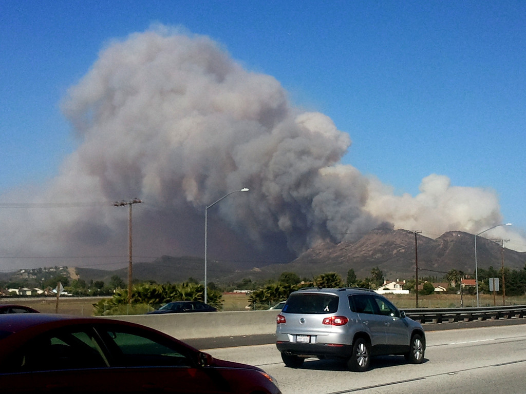 . May 2, 2013: The Springs Fire in Camarillo broke out after 6 a.m. near the 101 Freeway. Photo by Gene Blevins/Los Angeles Daily News