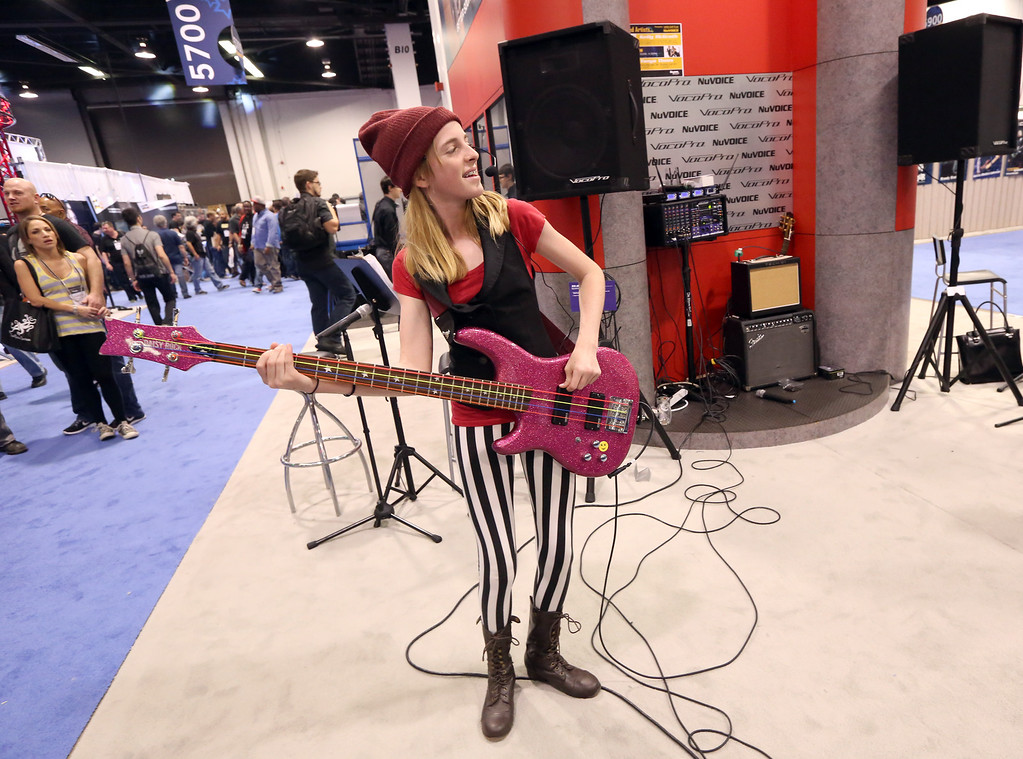 . ANAHEIM, CA - JANUARY 25:  A general view of atmosphere at the 2014 National Association of Music Merchants show at the Anaheim Convention Center on January 25, 2014 in Anaheim, California.  (Photo by Jesse Grant/Getty Images for NAMM)