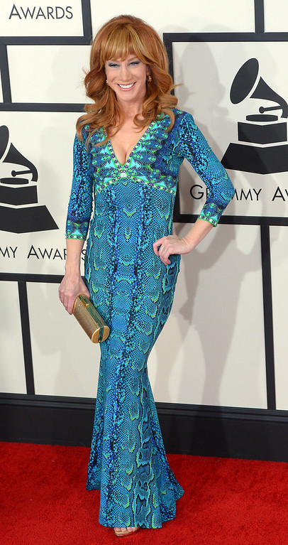 . Kathy Griffin arrives at the 56th Annual GRAMMY Awards at Staples Center in Los Angeles, California on Sunday January 26, 2014 (Photo by David Crane / Los Angeles Daily News)