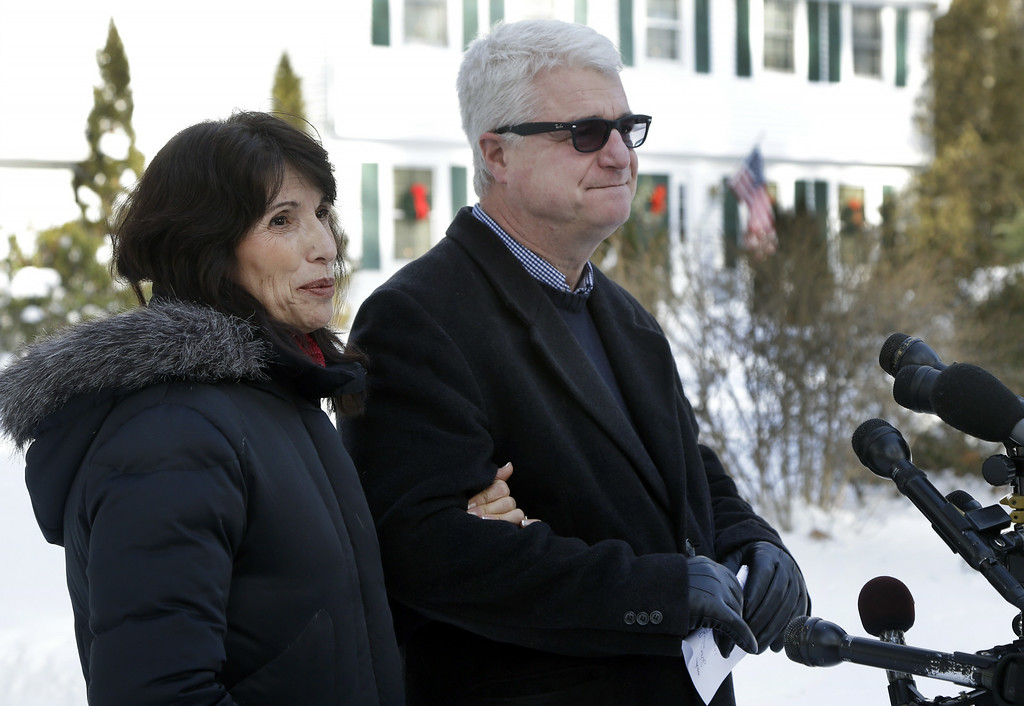 . Diane and John Foley speak about their son, James Foley, 39, a journalist who was kidnapped in Syria by unknown gunmen on Thanksgiving day, during a news conference at their home in Rochester, N.H., Thursday, Jan. 3, 2013.  (AP Photo/Elise Amendola)