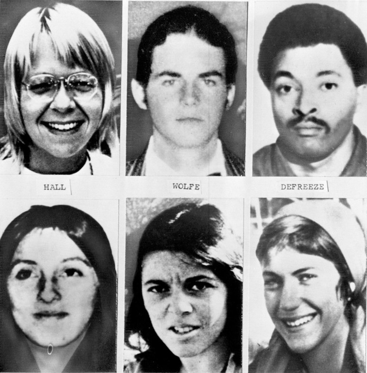 . These are the six dead people whose bodies were found in the charred ruins of a house after police besieged the suspected Symbionese Liberation Army hideout in Los Angeles May 17. The dead identified by the coroner\'s office are, top from left: Camilla Hall, 29; William Wolfe, 23; and Donald DeFreeze, 30. Bottom row, from left, are : Angela Atwood, 25; Nancy Ling Perry, 26; and Patricia Soltysik, 29. Photo provided in New York, May 19, 1974. (AP Photo)
