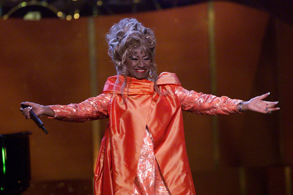 . Celia Cruz onstage performing at \'VH1 Divas Live: The One and Only Aretha Franklin\' held at Radio City Music Hall in New York City on Tuesday, April 10, 2001. Photo by Scott Gries/ImageDirect