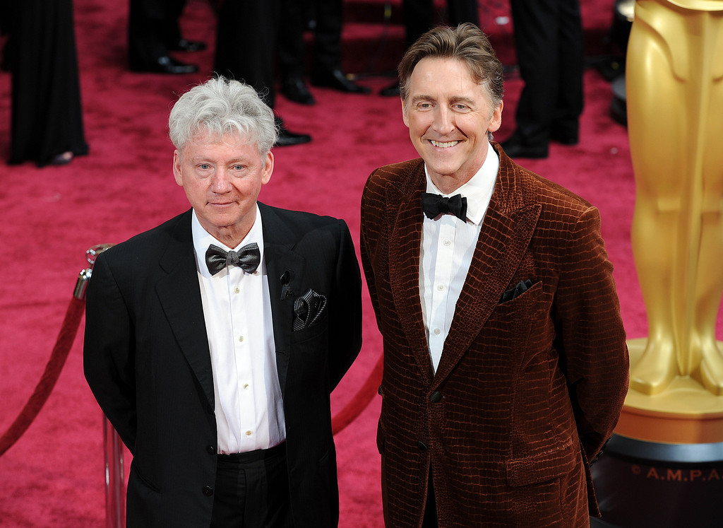 . Malcolm Clarke and Nicholas Reed attend the 86th Academy Awards at the Dolby Theatre in Hollywood, California on Sunday March 2, 2014 (Photo by John McCoy / Los Angeles Daily News)