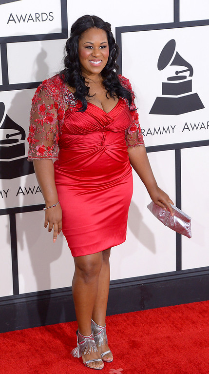 . Makeba Riddick arrives at the 56th Annual GRAMMY Awards at Staples Center in Los Angeles, California on Sunday January 26, 2014 (Photo by David Crane / Los Angeles Daily News)