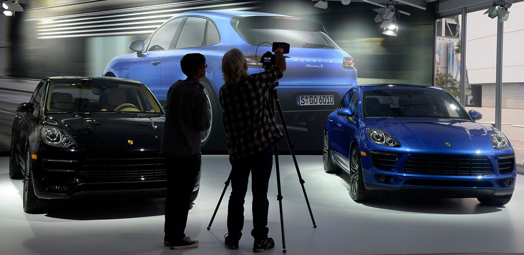 . Nov 22,2013 Los Angeles CA. The new 2014 Porsche Macan on displays during the 2nd media day at the Los Angeles Auto Show.The show opens today Friday and runs through Dec 1st. Photo by Gene Blevins/LA Daily News