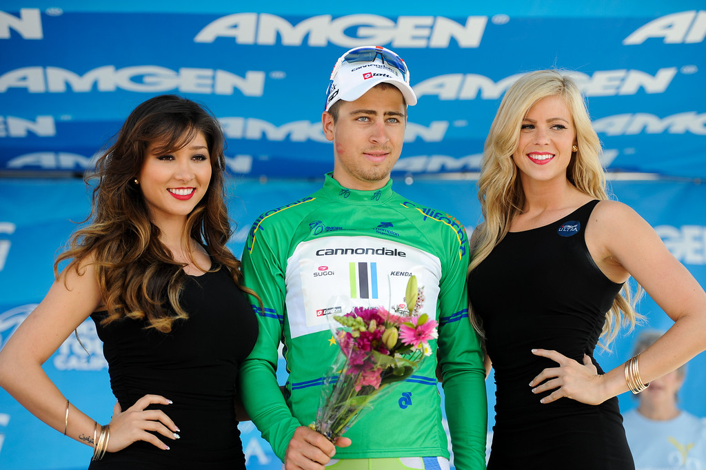 . Peter Sagan wins the sprint Point Classification for Stage 4 at the Amgen Tour of California finish in Santa Barbara, Wednesday, May 15, 2013. (Michael Owen Baker/Staff Photographer)